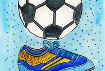 Painting Of Soccer Ball In Acrylic