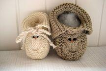 botas tricot bébé