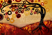 """Natasha Wescoat / Love her artwork! Saw my first piece in a picture of a room in a house on Zillow! I had no idea where it came from or who did it, but I was on a mission to find it! I searched """"tree"""" on Art.com and was thrilled when I quickly found """"May Tree""""!"""