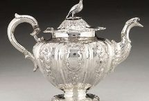 STERLING SILVER TEAPOTS+COFFEE POTS+CHOCOLATE POTS
