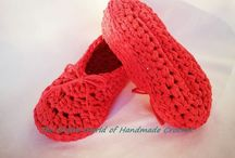 "Handmade Crochet ""Charming"" Woman's Slippers / https://www.facebook.com/TheEntireWorldofHandmadeCrochet/"