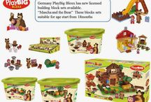 Germany PlayBig company lanuched Mascha and the Bear Building Blocks Set.
