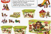 Germany PlayBig company lanuched Mascha and the Bear Building Blocks Set.