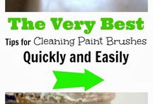Cleaning paintbrushes and more