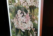 OconeeBellStudios / Art work, watercolors, wildflowers, prints