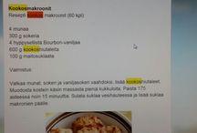 Leivontaa ja kokkausta suomeksi