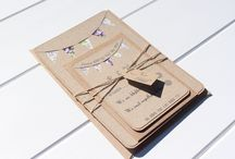 Rustic Handmade Wedding Invitations / A beautiful display of our handmade rustic wedding invitations, available to order at https://www.etsy.com/uk/shop/ForestFernDesigns