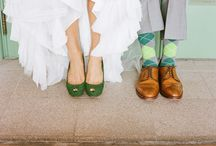 The Shoes / Shoes - what to wear on your wedding day!  We have pinned our favorite shes for him and her.  Plus many different shoe ideas.