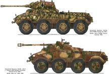 WW2 - SDKFZ 234/2 / Sd.Kfz.234 (Sonder Kraftfahrzeug lub Puma) – seria niemieckich 8-kołowych, ciężkich samochodów pancernych uzbrojonych w armatę 5 cm KwK 39 L/60.