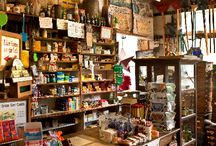 A Lexicon of Emporiums / Vintage country stores, old corner shops, haberdasheries, current specialty markets, clothing stores and cafe's. A cornucopia of pleasing product placement presentations. / by Sin Ister
