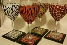 Lynn's Glassware / Glassware that my friend, Lynn Gerber, paints.  She is a self taught artist and is so talented.  Beautiful!