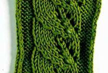 knit stitches / Points de tricot / by EclatDuSoleil