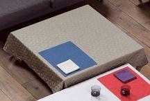 Solid Cotton Damask Tablecloths / Le Jacquard Français Cotton Damask Fine French Luxury Tablecloths