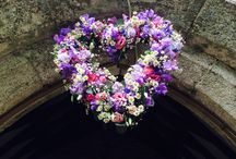 Our Flower hearts / Beautiful fresh flowers made into a heart ideal for weddings for archways, marquee decorations. www.weddingflowersincornwall.co.uk