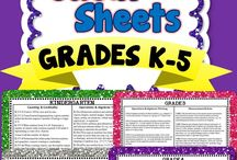 Common Core / cheat sheets, aligned assessments, etc.