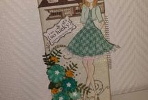 Egna pyssel- My stuff / egna alster Cards, bags and other papercraft