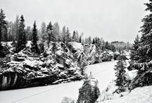 Карелия, январь-2015 / Рускеала, мраморный каньон