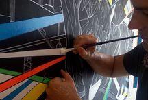 My Art Studio / #artiststudio #howto #studioprocess #bulls #sharks #markogavrilovic