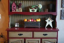 Distressed China Cabinets