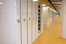 Turin University / Norman Foster has designed the new library area of the Einaudi Campus in Turin and has used our technology to storage the 620.000 books! Inside a project of building automation, our product Tecnoroll was perfect to provide a fast and safe service. #archivicompattabili #italianstorage
