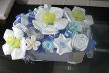 Diaper cakes / Creative ways to create diaper cakes!