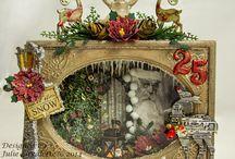 vintage christmas shadowbox