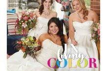 """In Living Color - A Real Weddings Cover Model Contest Finalist Photo Shoot Feature / From the """"In Living Color"""" cover model contest finalist photo shoot feature in the Summer/Fall 2016 issue of Real Weddings Magazine, Photography by Meagan Lucy Photographers © Real Weddings Magazine, www.realweddingsmag.com. For a full list of vendors on this photo shoot, and to see more photos, go to: http://www.realweddingsmag.com/sacramento-wedding-inspiration-in-living-color-the-layout-from-the-summerfall-2016-issue-of-real-weddings-magazine/"""