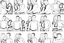 Pose bersama pasangan