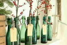 decoracion con botellas de vidrio y plastico