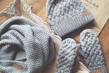 Juego de gorro guantes y bufanda