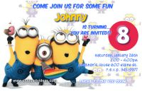 Despicable Me 2 birthday invitations