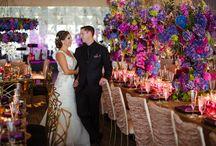 Katie + Tony | Real Wedding / Early fall nuptial boasting jewel tones and art nouveau elements.
