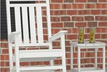 POLYWOOD Rocking Chairs / Polywood rocking chairs are the ultimate outdoor rocking chair available in today's market. Our polywood recycled plastic resin rocking chairs were meant to stay outside all year round. Make your front porch or patio a 'Rocking' haven while impressing your neighbors. Not necessary, but feel free to add to our adirondack rocking chair a rocking chair cushion, the polywood rocking chair will perform for a lifetime and outlasts traditional wood.