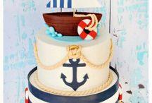 Nautical, Sailor, Pirate, boy birthday party, cake / Torty dla chłopców,  tort, chłopiec, marynarz, pirat, morze, urodziny