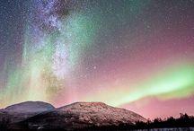 Himmelfenomener / Aurora borealis, haloer, melkeveien etc