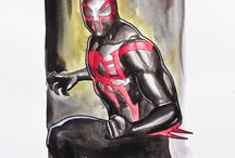 Superheroes / Hello I'm showing you my own created spiderman suits i hope you like them!!!!!