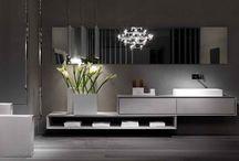 Waschtischanlagen—Möbel im Bad