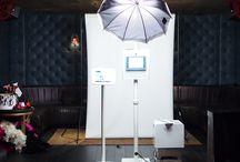 Photo Booth Set Up / set up pics, design, spacing, booth, backdrop, social media kiosk
