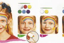 Idées maquillages enfants et adultes  / Quelques idées de maquillage pour carnaval , fete de l'ecole , gouter d'anniversaire ou occuper les vacances ou le mercredi et le week end