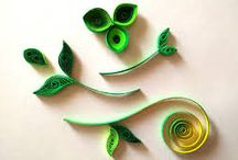 Quilling leaves
