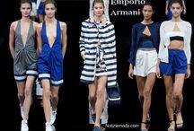 Emporio Armani / Emporio Armani collezione e catalogo primavera estate e autunno inverno abiti abbigliamento accessori scarpe borse sfilata donna.