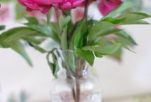 Blousy Blooms  / www.blushrose.co.uk Peonies and rich red blooms meadow style flowers for wedding