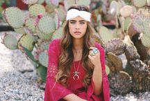 Desert Romance / Check out our collaboration with blogger Jamie Kidd wearing a red lace dress by Vava. The dreamy desert location totally encompasses our boho vibe at Romance Riders!