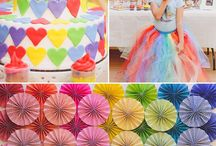 My little pony party / An inspiration board for a rainbow My Little Pony party.