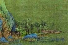 Сине-зелёный пейзаж