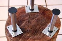 Mesa con tronco