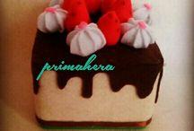 felt cake tissue box