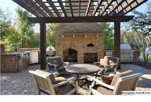 Patio Fireplaces And Decor / by Debra Steinke Brey