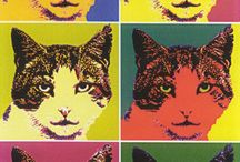 A. Warhol - Cats / Pop-Art by Andy Warhol (1928-1987) featuring the Cat theme.