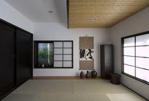 東京組の和室|和モダン / モダンなデザイン住宅でも「和」の空間があるとくつろげる。 畳の匂い、ゴロンと横になってみる。贅沢な空間ですかね?